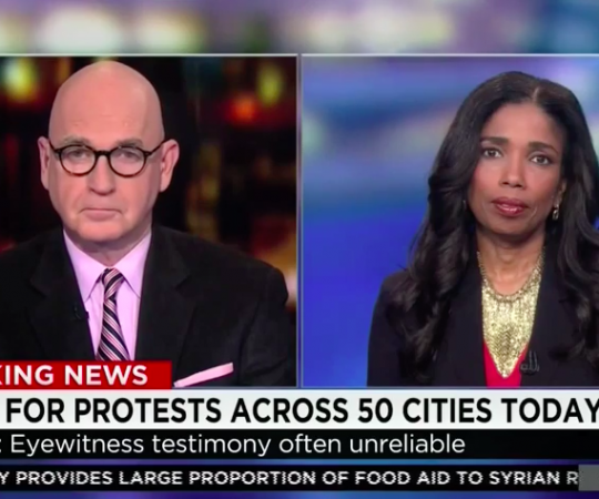 "Areva Martin breaks down post-Ferguson fallout on CNN's ""Erin Burnett OutFront"""